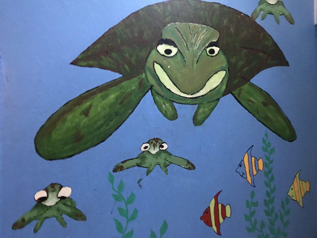 nautische Wandmalerei aus dem Wasserwerk